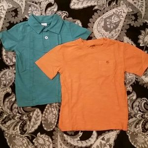 Boy's Gymboree Size 4 & 4T Polo & Pocket Tee